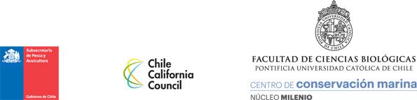 Subsecretaría de Pesca Agricultura, Chile California Council, Facultad de Ciencias Biológicas de la Pontificia Universidad Católica de Chile, Centro de Conservación Marina Núcleo Milenio